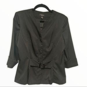 T. Milano Women's Black Jacket For Petite (10P)